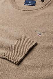 GANT - SUPERFINE LAMBSWOOL CREW - basic knitwear - dk. sand melange - 2