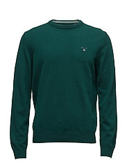 SUPERFINE LAMBSWOOL CREW - TARTAN GREEN