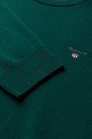 GANT - SUPERFINE LAMBSWOOL CREW - basic knitwear - tartan green - 2