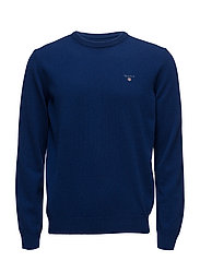SUPERFINE LAMBSWOOL CREW - YALE BLUE