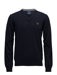 SUPER FINE LAMBSWOOL V-NECK - MARINE