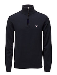 SUPERFINE LAMBSWOOL HALF ZIP - MARINE