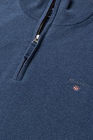 GANT - SUPERFINE LAMBSWOOL HALF ZIP - half zip jumpers - stone blue melange - 2