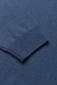 GANT - SUPERFINE LAMBSWOOL HALF ZIP - half zip jumpers - stone blue melange - 3