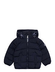 D1. LOCK-UP STRIPE PUFFER JACKET - EVENING BLUE