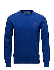 STRETCH COTTON CREW - YALE BLUE