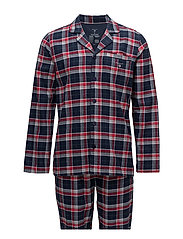 PAJAMA SET SHIRT GIFT GIV. FLANNEL - NAVY