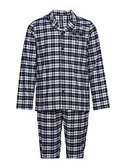 PAJAMA SET SHIRT FLANNEL GIFT BOX - MARINE
