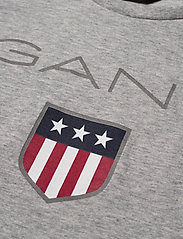 GANT - GANT SHIELD SS T-SHIRT - kurzärmelige - light grey melange - 2