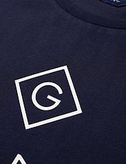 Gant - GANT LOCK-UP SS T-SHIRT - short-sleeved - evening blue - 2