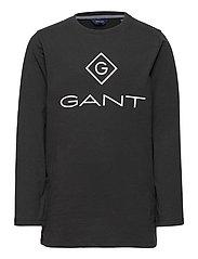 GANT LOCK-UP LS T-SHIRT - BLACK