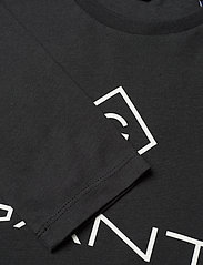 GANT - GANT LOCK-UP LS T-SHIRT - long-sleeved t-shirts - black - 2