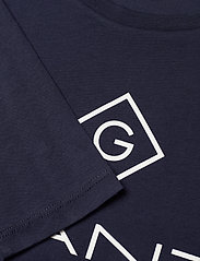 GANT - GANT LOCK-UP LS T-SHIRT - long-sleeved t-shirts - evening blue - 2