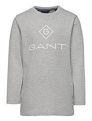 GANT LOCK-UP LS T-SHIRT - LIGHT GREY MELANGE