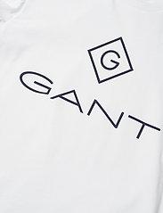 GANT - GANT LOCK-UP LS T-SHIRT - long-sleeved t-shirts - white - 2