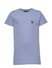 D1. MEDIUM SHIELD SS T-SHIRT - FROST BLUE MEL