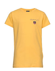 D1. MEDIUM SHIELD SS T-SHIRT - MIMOSA YELLOW