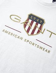 GANT - ARCHIVE SHIELD SS T-SHIRT - short-sleeved - white - 2