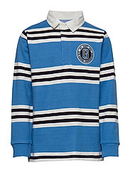 D1. GANT VARSITY STRIPE HR - PACIFIC BLUE