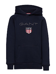 GANT SHIELD HOODIE - EVENING BLUE