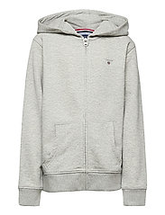 THE ORIGINAL FULL ZIP SWEAT HOODIE - LIGHT GREY MELANGE