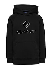 GANT LOCK-UP SWEAT HOODIE - BLACK