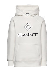 GANT LOCK-UP SWEAT HOODIE - EGGSHELL