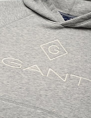 GANT - LOCK-UP HOODIE - hættetrøjer - light grey melange - 2