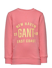 D2. GANT EAST COST C-NECK SWEAT - STRAWBERRY PINK