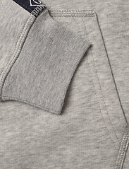 GANT - D1. LOCK UP STRIPE HOODIE - hættetrøjer - light grey melange - 5