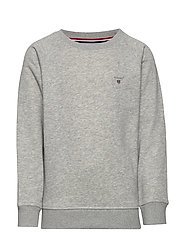 D1. THE ORIGINAL C-NECK SWEAT - LIGHT GREY MELANGE