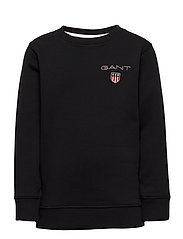 D1. MEDIUM SHIELD SWEAT C-NECK - BLACK