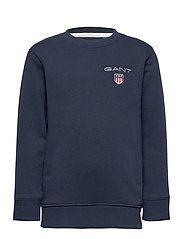 D1. MEDIUM SHIELD SWEAT C-NECK - EVENING BLUE