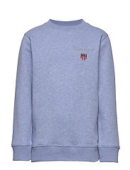 D1. MEDIUM SHIELD SWEAT C-NECK - FROST BLUE MEL