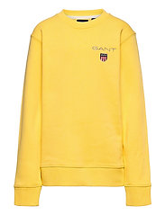 D1. MEDIUM SHIELD SWEAT C-NECK - MIMOSA YELLOW