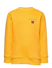D1. MEDIUM SHIELD SWEAT C-NECK - SOLAR POWER YELLOW