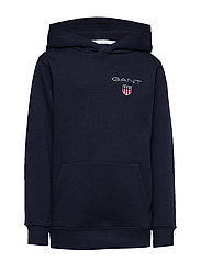 D1. MEDIUM SHIELD SWEAT HOODIE - EVENING BLUE