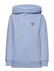D1. MEDIUM SHIELD SWEAT HOODIE - FROST BLUE MEL