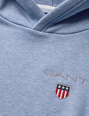 GANT - D1. MEDIUM SHIELD SWEAT HOODIE - hoodies - frost blue mel - 2