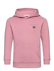D1. MEDIUM SHIELD SWEAT HOODIE - SEA PINK