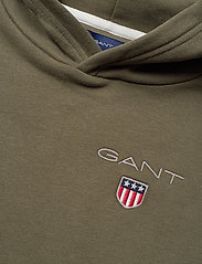 GANT - D1. MEDIUM SHIELD SWEAT HOODIE - hættetrøjer - sea turtle - 2