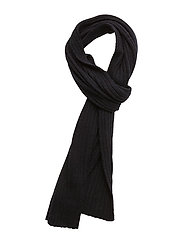 COTTON/WOOL SCARF - NAVY