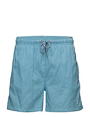 SEERSUCKER SWIM SHORTS CLASSIC FIT - TOPAZ BLUE