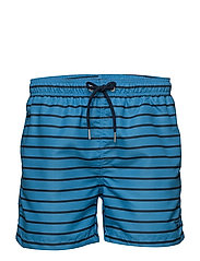 BRETON STRIPE SWIM SHORTS C.F. - ASTER BLUE