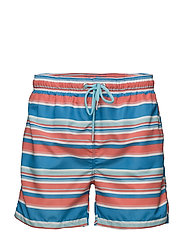 MULTISTRIPE SWIM SHORTS C.F. - STRONG CORAL