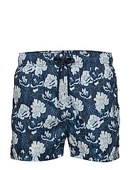FULL BLOOM LW SWIM SHORTS SHORT CUT - NAVY