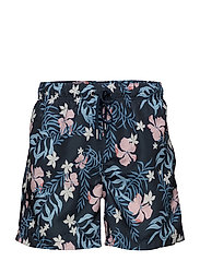SUMMER FLORAL SWIM SHORTS C.F. - NAVY