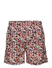 AIRY LEAF SWIM SHORTS C.F. - STRONG CORAL