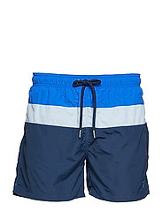 COLOR BLOCK SWIM SHORTS C.F - NAVY