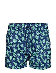 SMALL WAVE SWIM SHORTS LW SH. FIT - PERSIAN BLUE